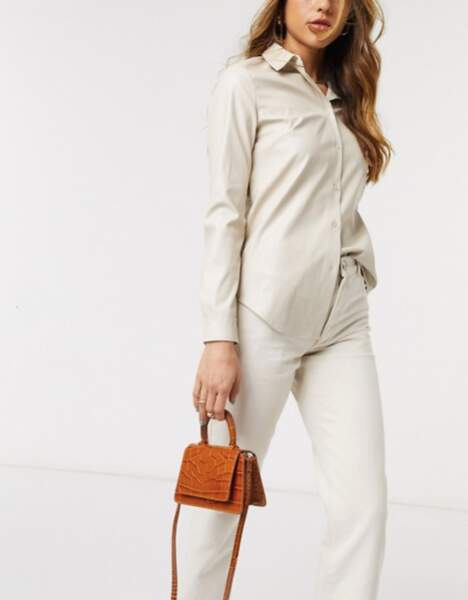 & OTHER STORIES - Petit sac marron façon croco, 87€
