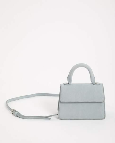 PIMKIE - Mini sac en suédine bleu, 16€