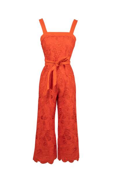 Combinaison orange en dentelle,  169€, Derhy
