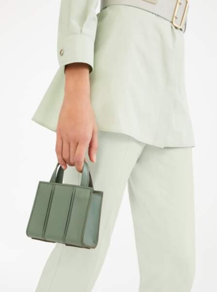 MAX MARA - Mini sac vert sauge, 405€