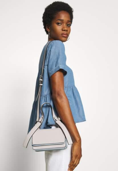 PIECES - Petit sac bandoulière blanc, 40€