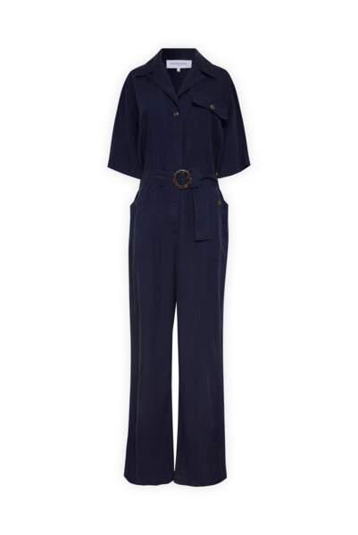 Combinaison bleue marine,  275 euros, Gerard Darel