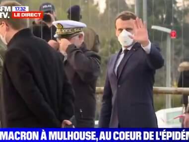 PHOTOS - Emmanuel Macron masqué : le président montre l'exemple à Mulhouse alors que les mesures se durcissent