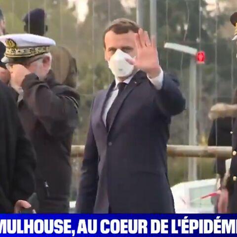 PHOTOS – Emmanuel Macron masqué: le président montre l'exemple alors que les mesures se durcissent