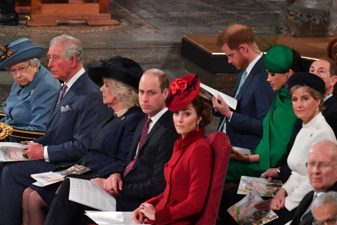 Les Cambridge et les Sussex lors de leur dernier engagement commun, à l'abbaye de Westminster, le 9 mars 2019.