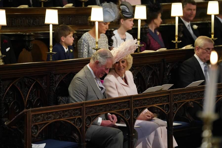 Le prince Charles et Camilla au mariage du prince Harry et de Meghan Markle, le 19 mai 2018