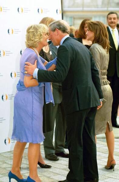 Camilla et le prince Charles lors d'une soirée à Londres le 27 juin 2001
