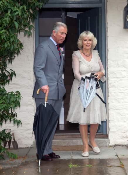 Charles et Camilla dans leur résidence du duché de Cornouailles, le 28 juin 2010