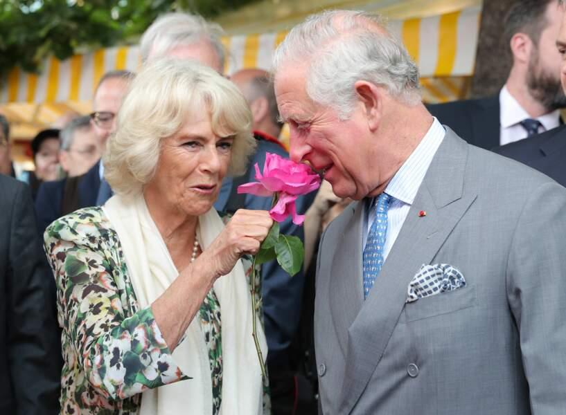 Charles et Camilla à Nice, le 9 mai 2018