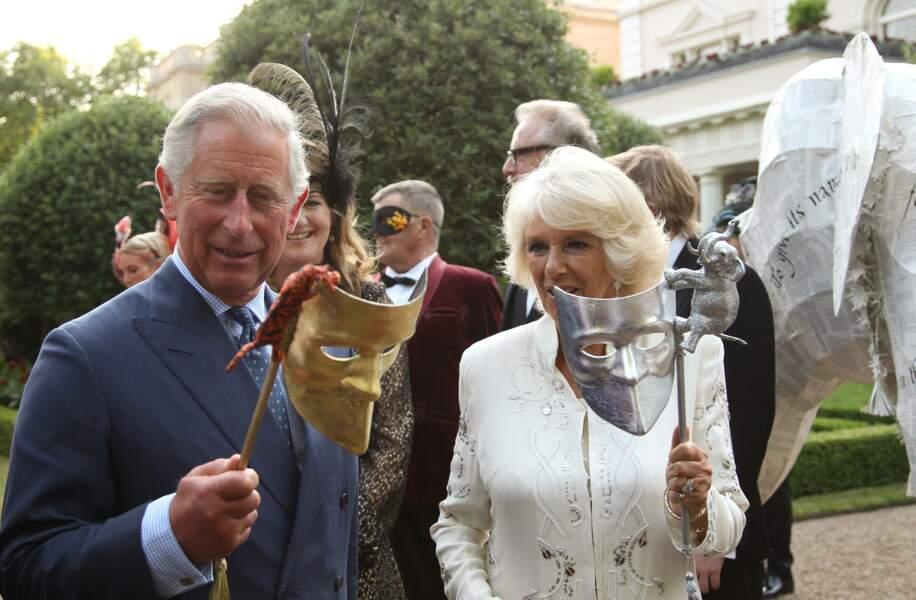 Charles et Camilla dans leur résidence de Londres, le 10 juillet 2013