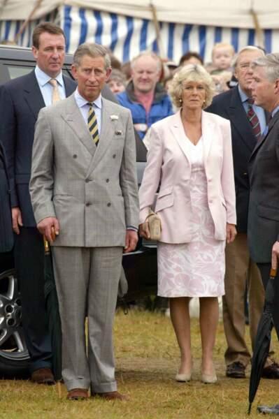 Charles et Camilla à Sandringham, le 31 juillet 2002