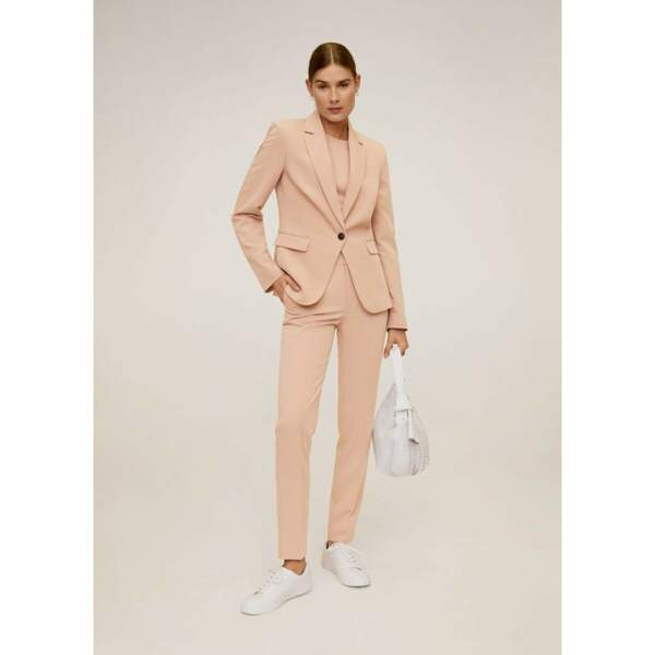On copie avec cet ensemble rose poudr, Mango, 71,98 €