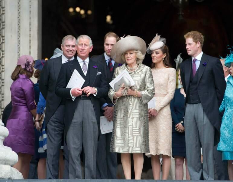 Charles et Camilla lors du jubilé de la reine, le 5 juin 2012