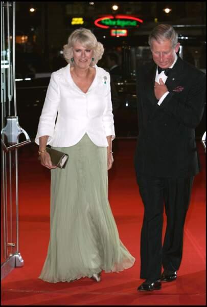 Camilla et Charles, lors d'une avant-première à Londres, le 2 octobre 2006