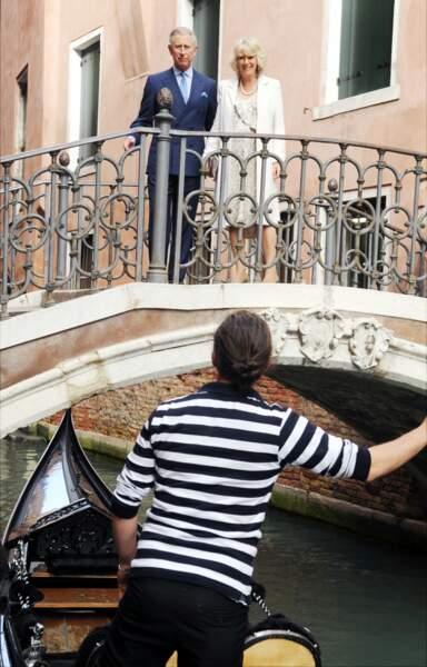 Charles et Camilla lors d'un séjour à Venise, le 28 avril 2009
