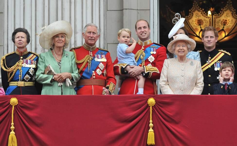 Charles et Camilla lors de la cérémonie Trooping The Colour, le 13 juin 2015