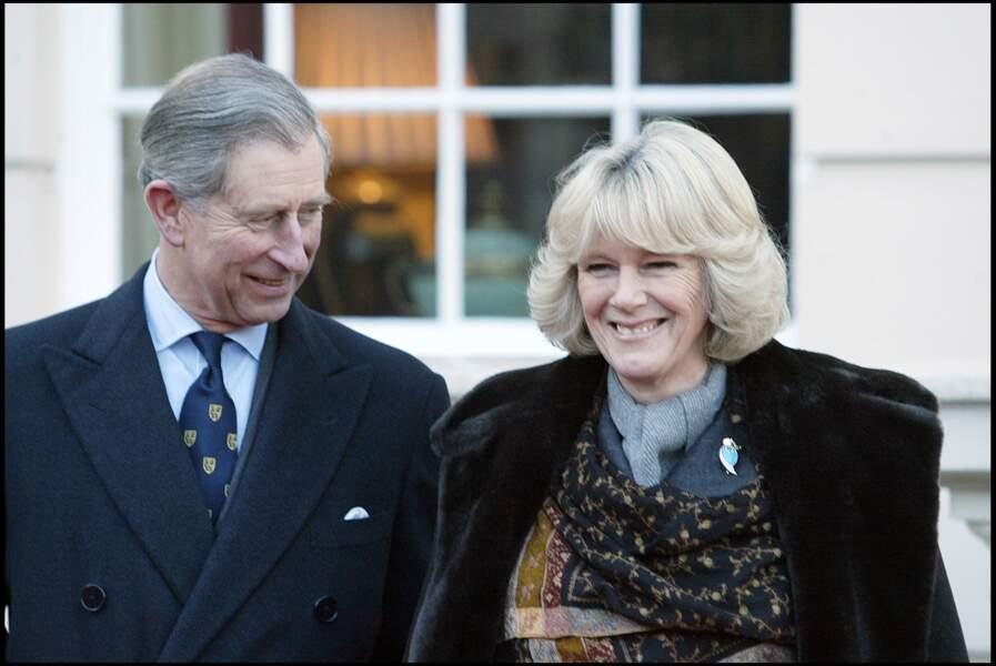 Le prince Charles et Camilla à Clarence House, le 21 février 2005