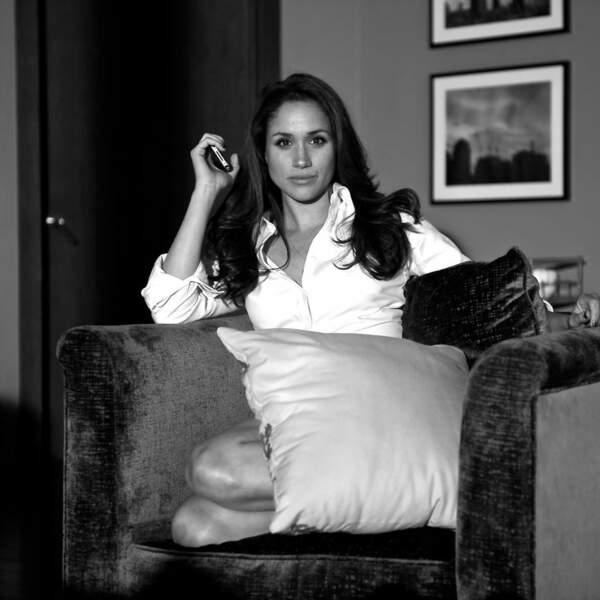 Meghan Markle sur le tournage de la série Suits