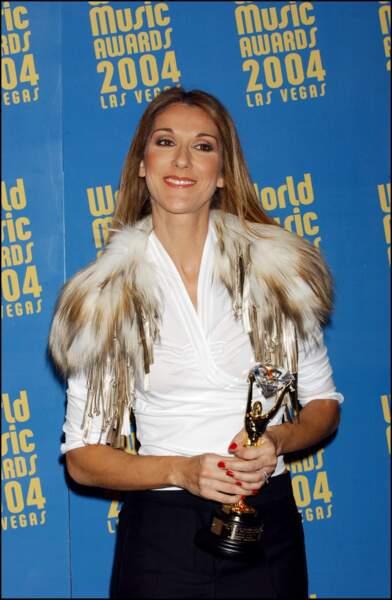 Céline Dion : à la cérémonie des World Music Awards en 2004