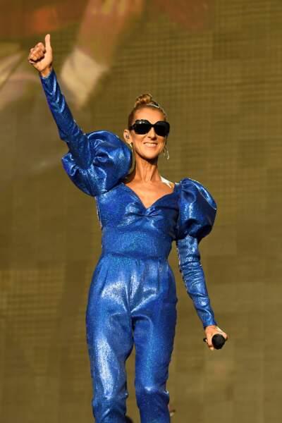 Céline Dion : en concert à l'occasion du festival d'été Barclaycard British dans Hyde Park à Londres en juillet 2019