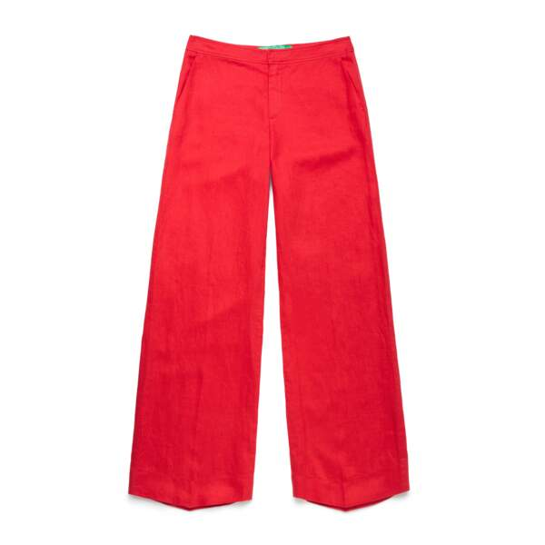 Pantalon en lin, 69,95€, Benetton.
