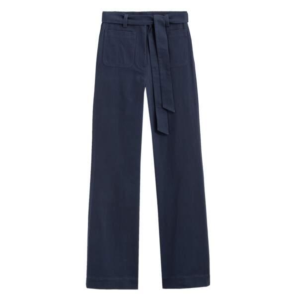 Pantalon à nouer à la taille, 100% coton, 49,99€, La Redoute.
