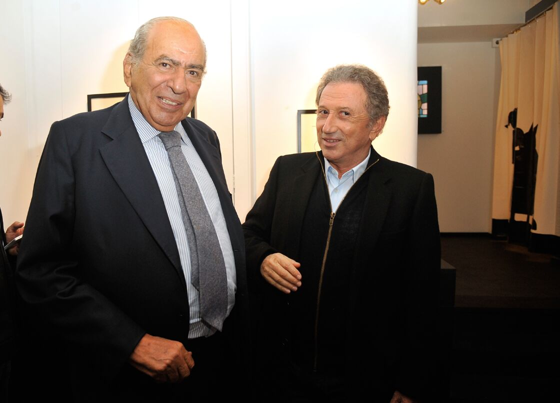 Pierre Bénichou et Michel Drucker, à Paris, en 2014.