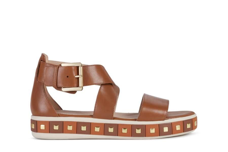 Sandales en cuir, 115€, Geox.
