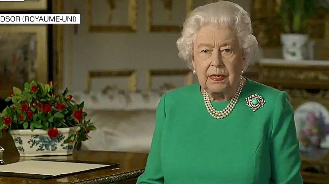 Elizabeth II lors de son allocution télévisée, ce dimanche 5 avril.