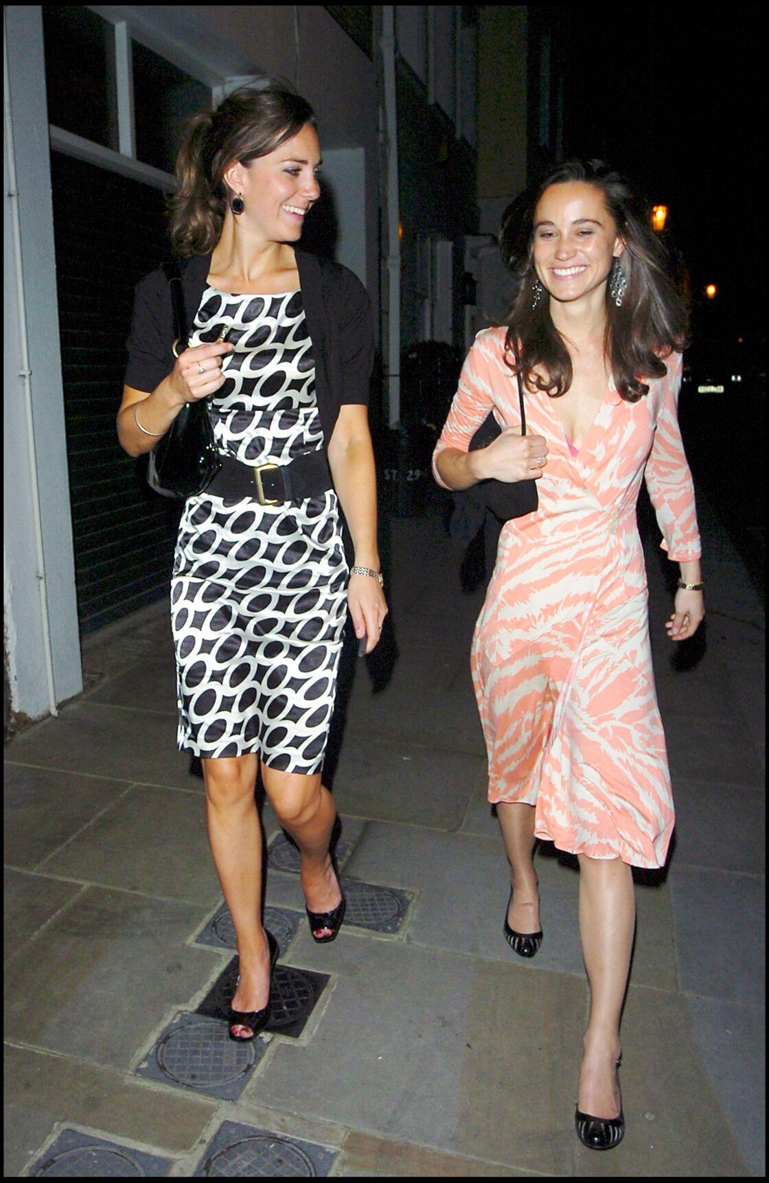 Kate Middleton et Pippa, au printemps 2007