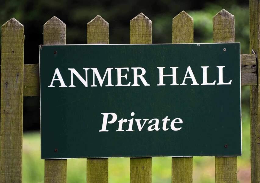 Avec ses dix chambres, Anmer Hall peut accueillir de nombreux invités
