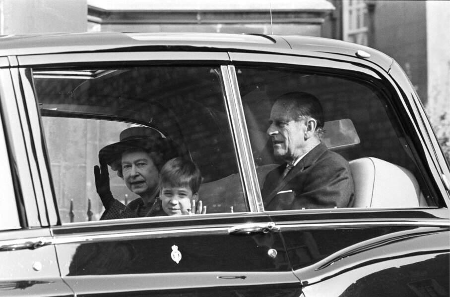 Le prince Philip et William, en 1988