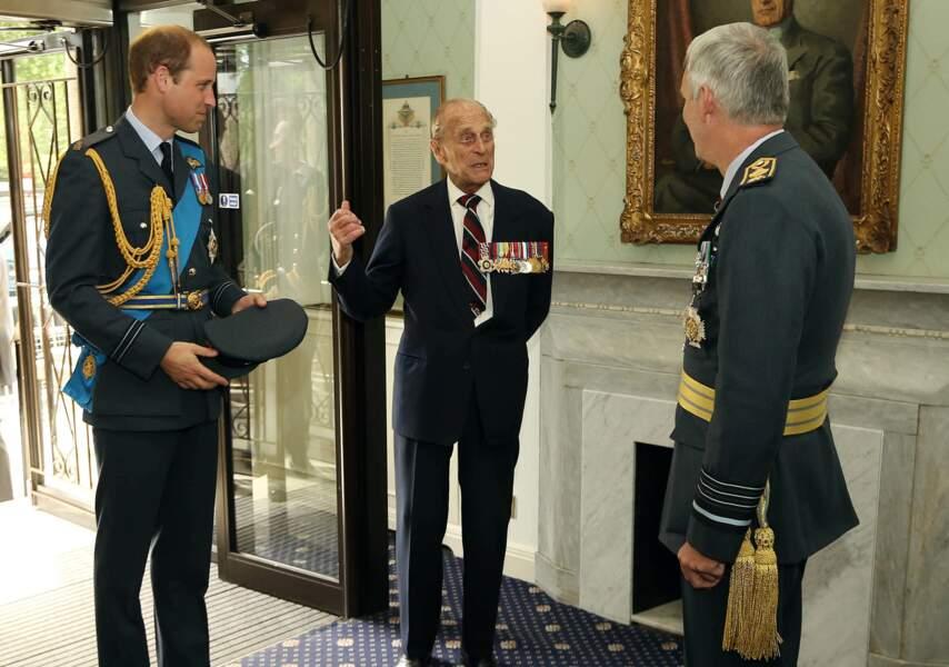 Le prince Philip et William, à Londres en 2015