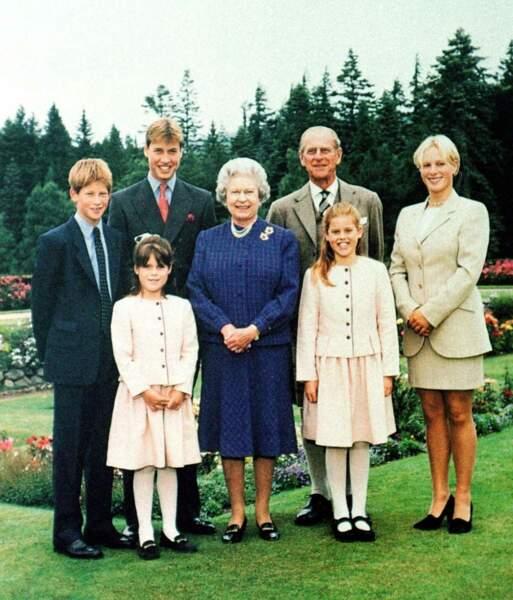 Le prince Philip en famille à Balmoral, en 1999