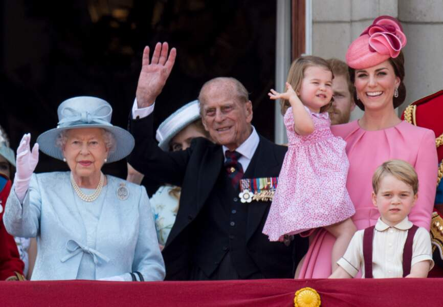 Le prince Philip au balcon de Buckingham, en 2017