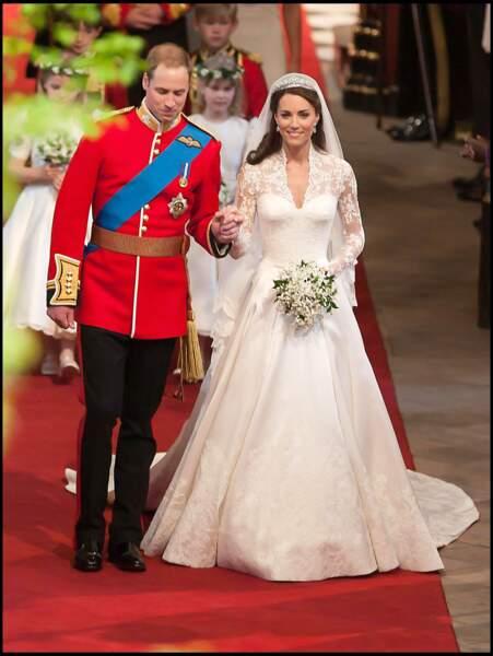 Le couple s'est dit oui à l'abbaye de Westminster, à Londres, le 29 avril 2011.