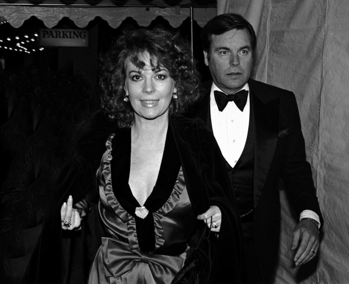 Robert Wagner et Natalie Wood, à Los Angeles en 1975