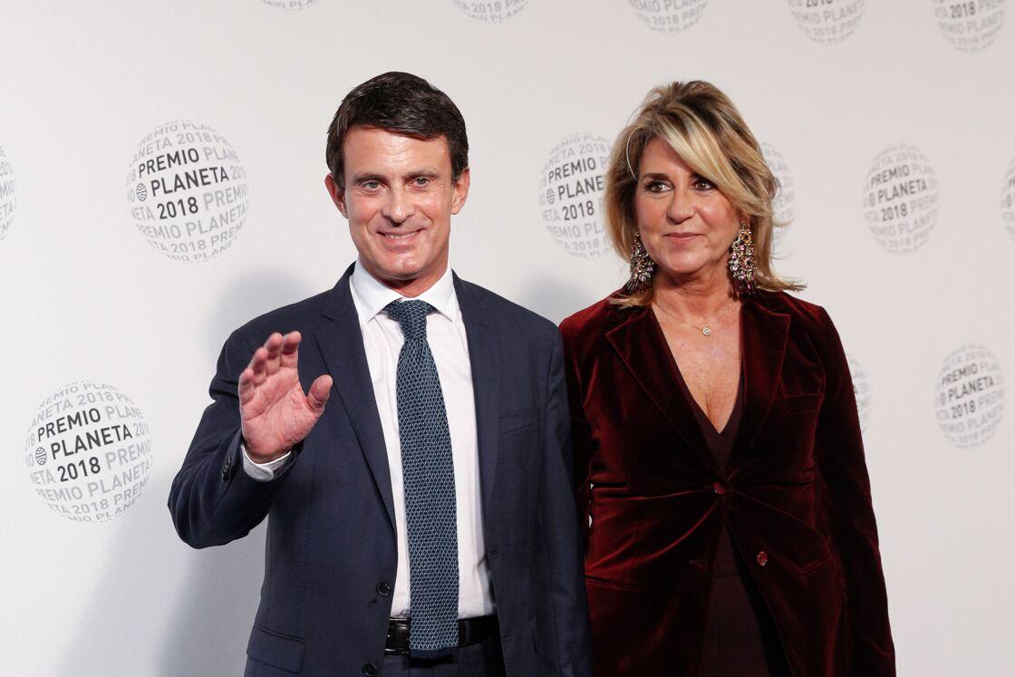 Manuel Valls et son épouse Susana Gallardo en octobre 2018, à la soirée Los Premios Planeta 2018 à Barcelone