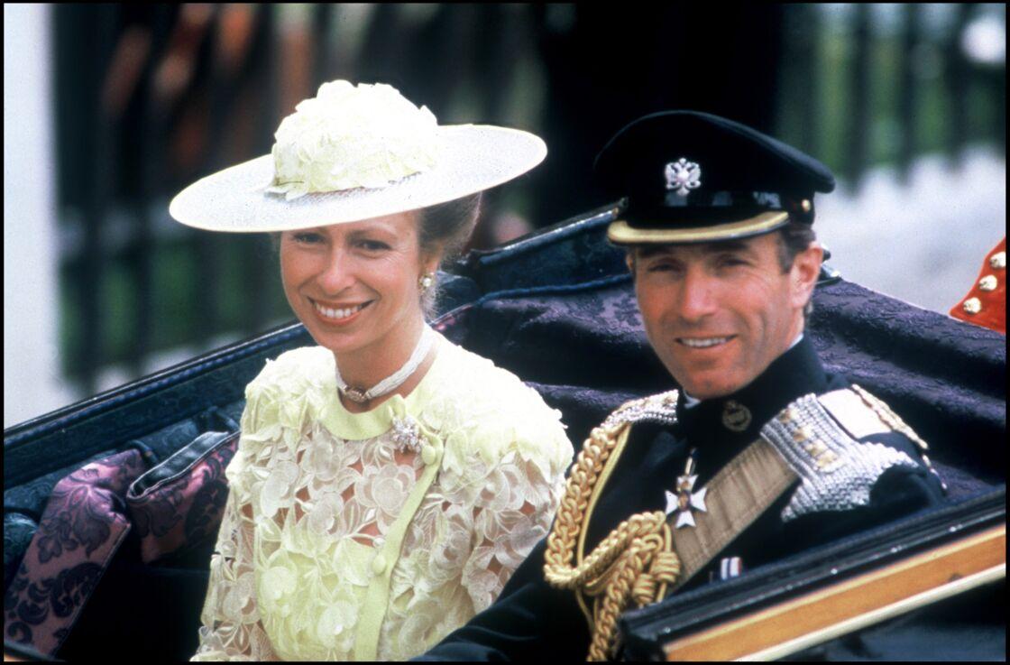 La princesse Anne et Mark Phillips, à Londres, en 1986.