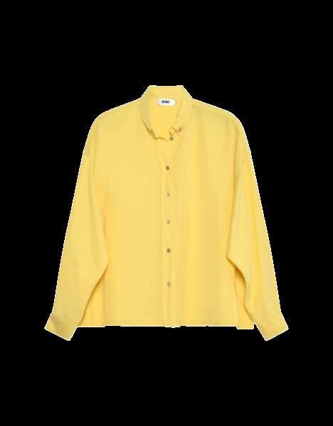 """Chemise Bea Color """"Sorbet Banane"""", 95€, ReikoJeans.com"""