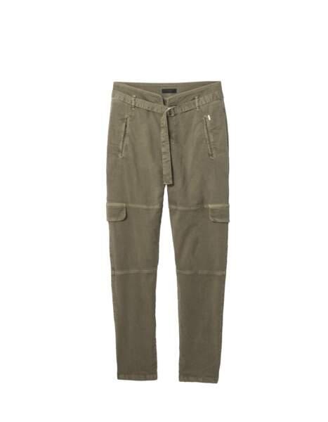 Pantalon militaire en coton mélangé, 145€, IKKS.