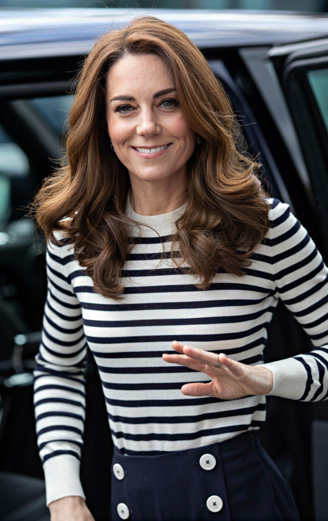 Kate Middleton adore les marinières, ici en mai 2019.