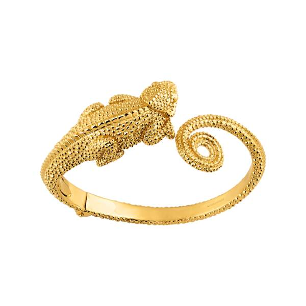 Bracelet en argent plaqué or, 275 €, Aristocrazy.