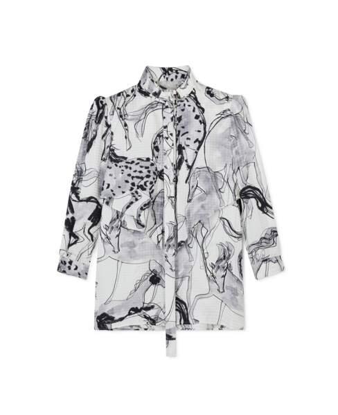 Chemise avec imprimé chevaux Stefanie, 735€, Stella McCartney