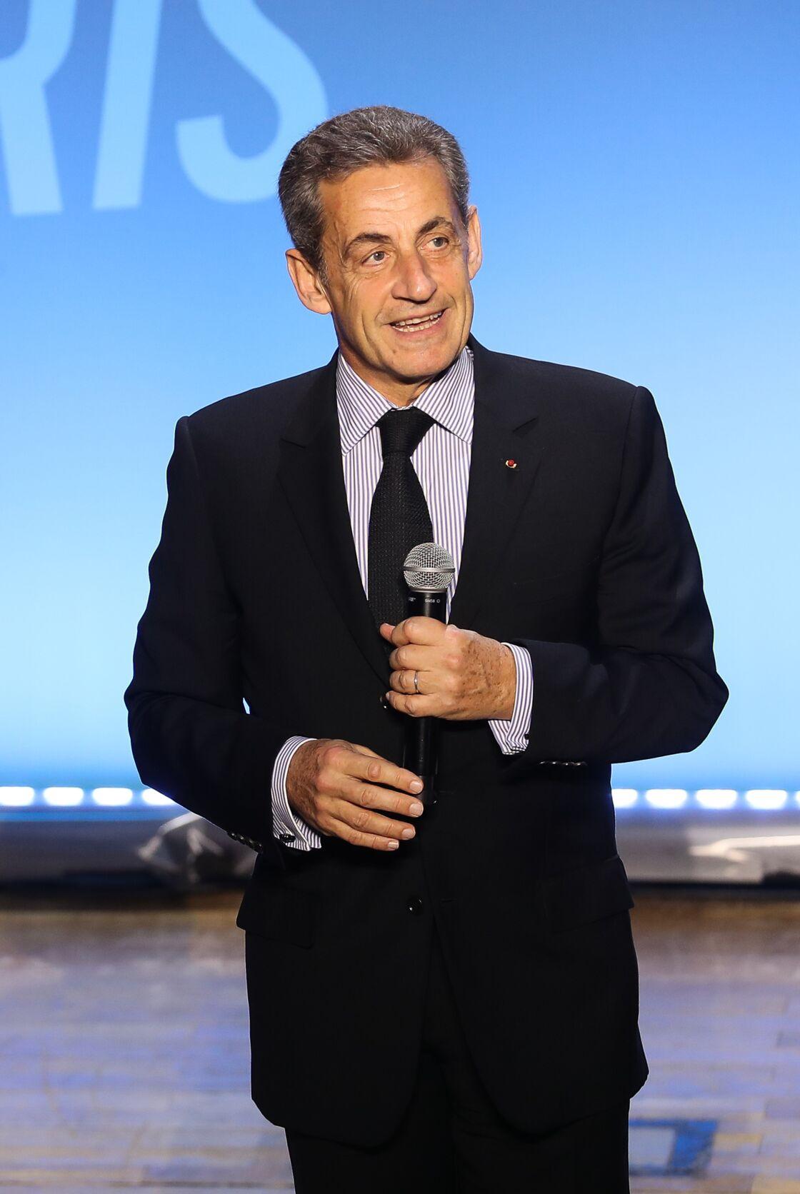Nicolas Sarkozy à la Salle Gaveau à Paris, le lundi 9 mars 2020
