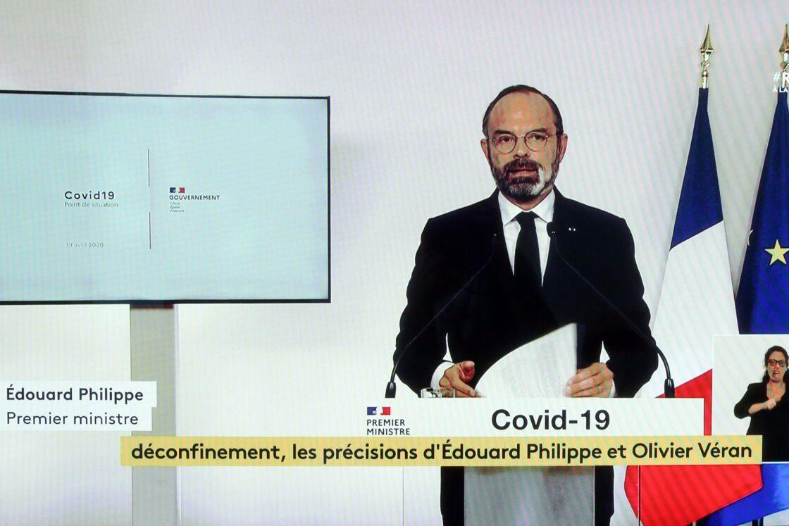Edouard Philippe lors de sa conférence de presse, le 19 avril 2020.