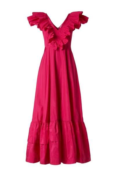robe volantée à col V, 486€, Parosh sur Farfetch