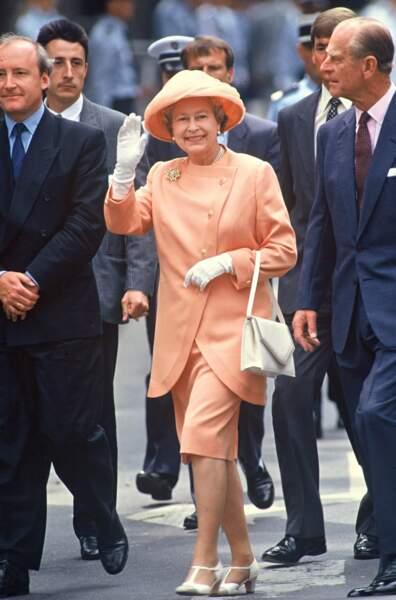 Le prince Philip et la reine Elizabeth II en visite officielle à Paris en 1992