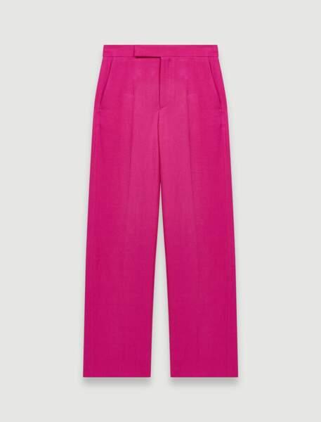 Pantalon tailleur rose fuchsia, 195€, Maje Paris