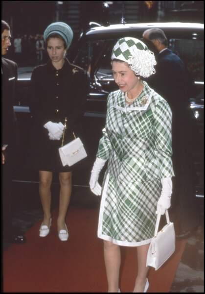 La princesse Anne et la reine Elizabeth II en 1970